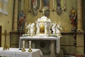 Osvětlení kostela v Břestu