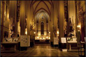 Osvětelní katedrály sv. Václava, Olomouc, ČR